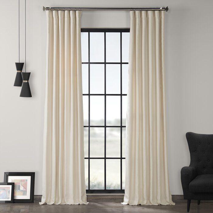 Ennis Room Darkening Rod Pocket Single Curtain Panel With Images