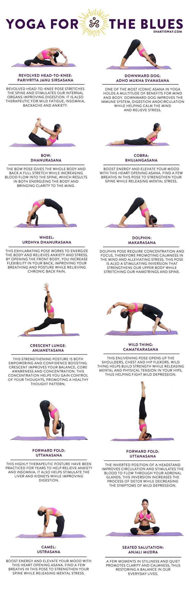 Got the blues? Yoga poses for mental health.
