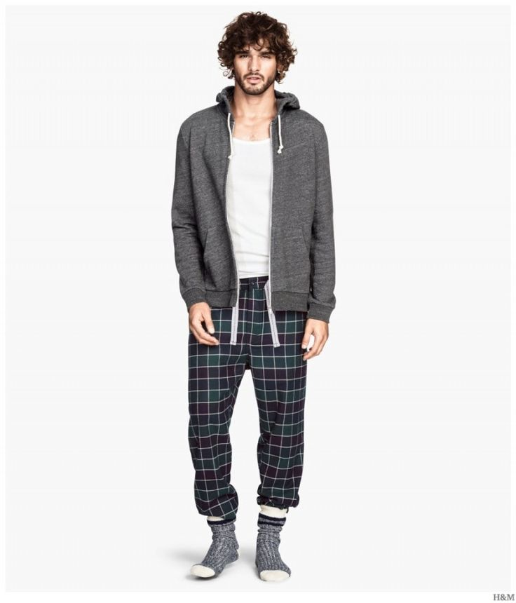 H&M Highlights Cozy & Classic Mens Loungewear + Pajamas image HM 2014 Mens Loungewear Pajamas 004 800x935