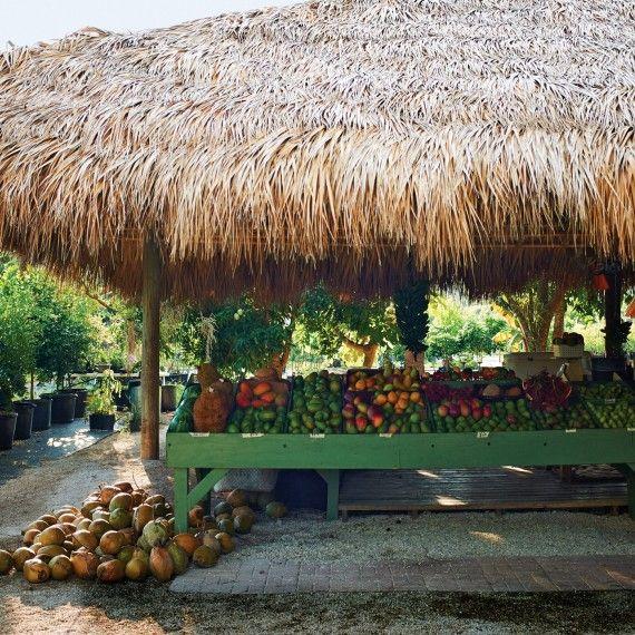 Fruit stand / roadside market on Pine Island, Florida