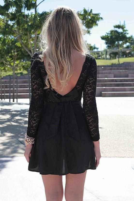 luv the back: Fashion, Style, Dream Closet, Clothes, Outfit, Black Laces, Black Lace Dresses, Little Black Dresses, Blacklace
