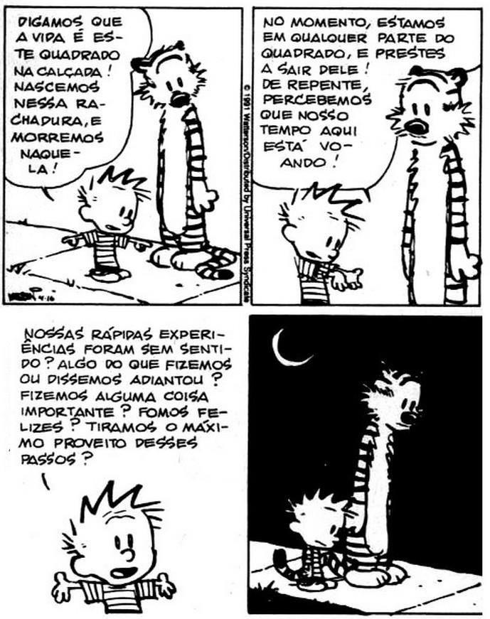 Filosofia. Com Calvin e Haroldo.
