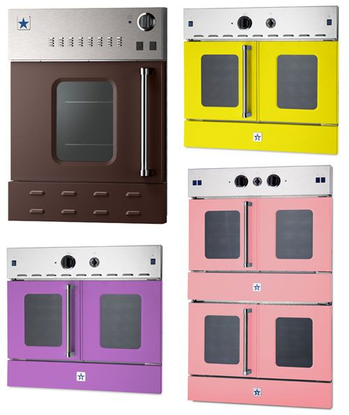Bluestar Wall Ovens via Design Milk. Love the purple one! [http://design-milk.com/bluestar-wall-ovens/]