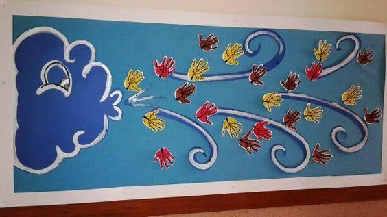 Painel decorativo do outono: