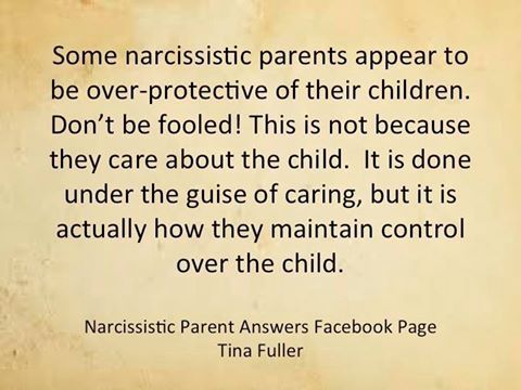 Some narcissistic parents seem to care for their child, don't be fooled!