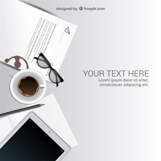 Free vector Workspace in top view #15558