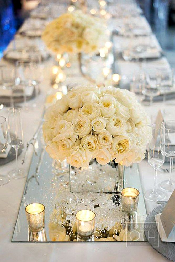 27 Fabulous Mirror Wedding Ideas. White Wedding DecorationsMirror ...