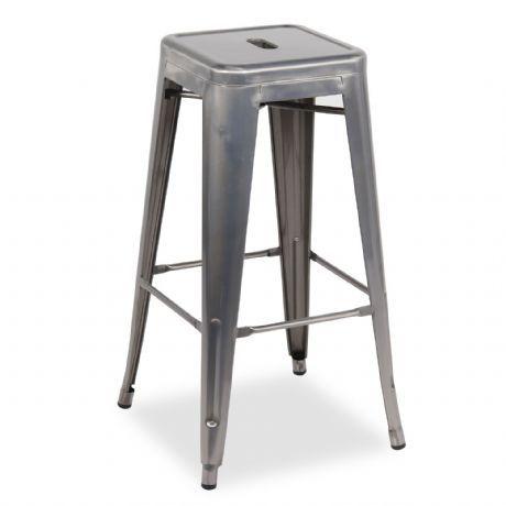 Taburete HIGHT URAL -Metal Cepillado-