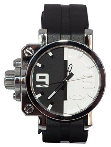 #menstitaniumwatches #oakleywatches #whitewatchesformen Oakley Men's 26-310 Gearbox Polished Black and White Dial Watch Check https://www.carrywatches.com