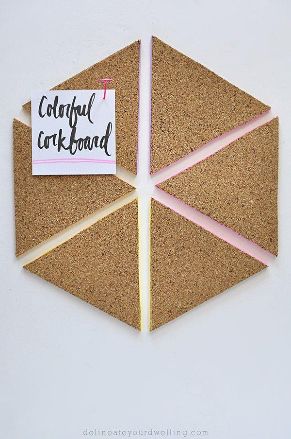 Colorful Triangle Cork Board