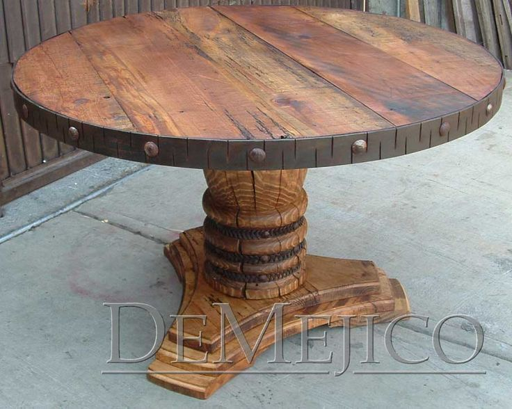 508 best images about Table on Pinterest : d5c99bf2b13e518493dea98b3bf98543 solid wood table reclaimed wood tables from www.pinterest.com size 736 x 588 jpeg 76kB