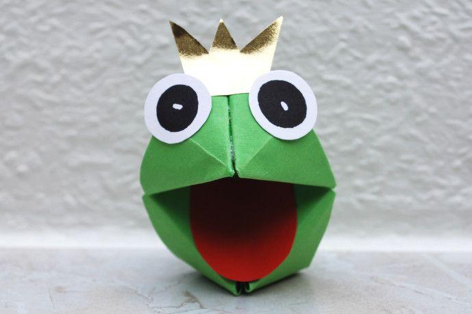 Froschkönig basteln - Kinderspiele-Welt.de