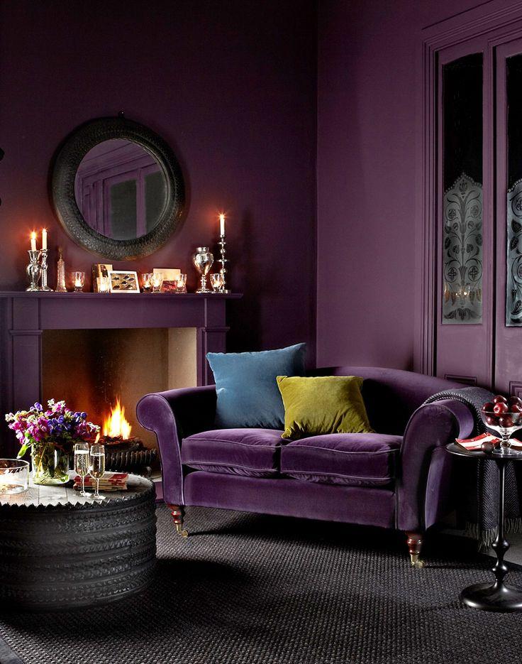 sofa velvet fabric luxe velvet purple velvet dark purple color purple