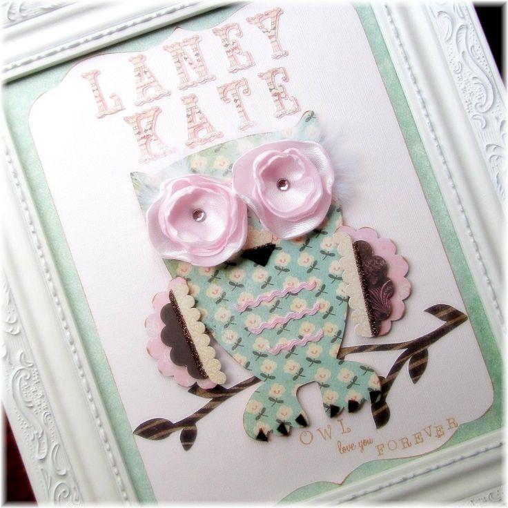 Owl Nursery Art . Custom Name . Owl Decor . by LilypadLaneDesigns, $46.00