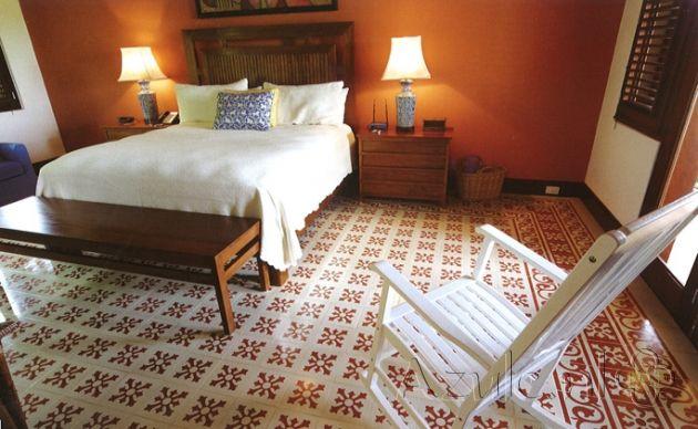 Cement tiles Bedroom - Project van Designtegels.nl
