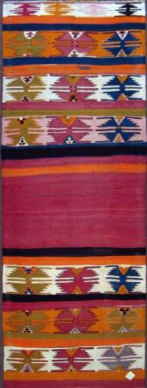 "Fethiye runner, all wool, 3' 2"" x 9' 11"", approx. 70 years old"