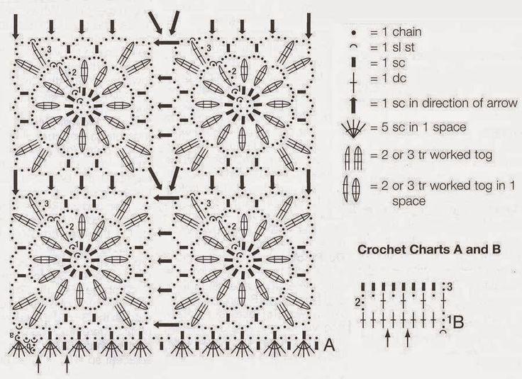 40 best c flores a crochet images on Pinterest | Manillas tejidas ...