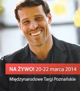 Svetový líder osobnostného rozvoja a najlepší rečník na svete PRVÝKRÁT v Strednej Európe   V marci 2015 sa v poľskej Poznani uskutoční 3-dňový seminár s ANTHONY ROBBINSOM, autorom niekoľkých bestsellerov, úznávaným rečníkom a školiteľom, ktorý pracoval s viac ako 3 miliónmi ľudí v 100 krajinách a koučoval najväčšie osobnosti svetového športu, filmu, hudby či politiky.   Lístky na túto akciu sú do konca zajtrajšieho dňa 5.11.2014 za zvýhodnenú cenu, ale potom budú stúpať.