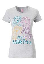 My little pony t-shirt-Femmes t-shirt-Girls shirt-gris chiné-Logoshirt