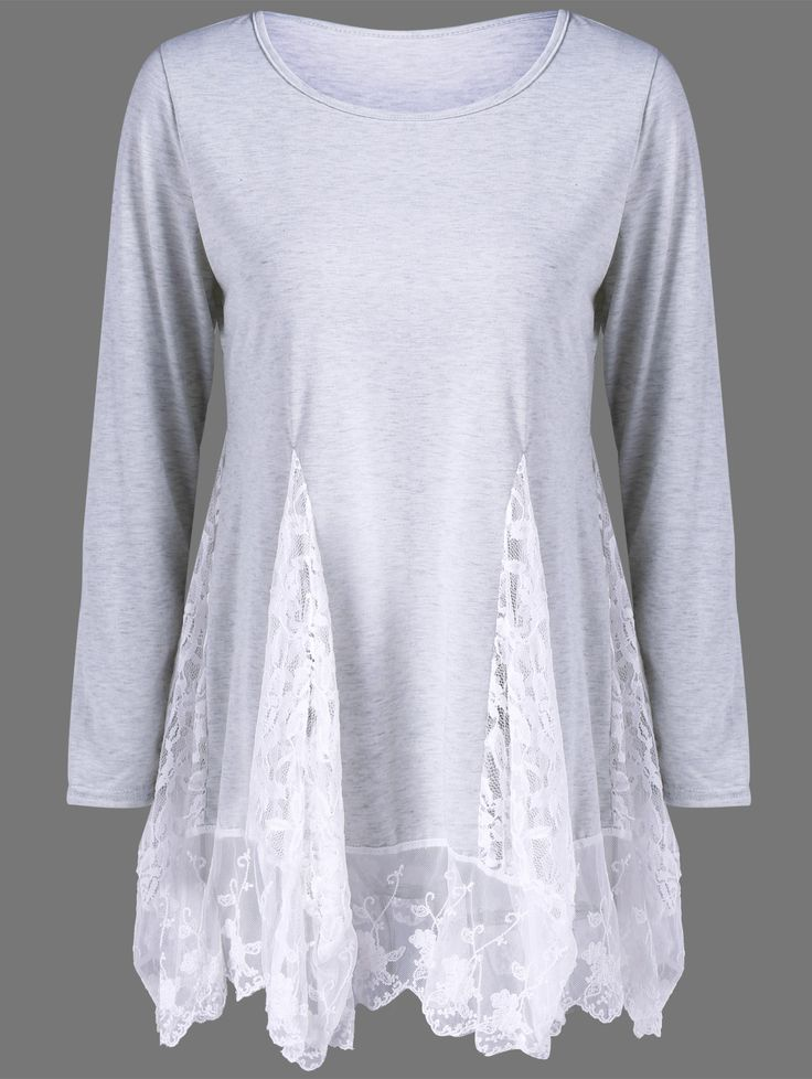 Lace Panel See Thru Tee                                                                                                                                                                                 More