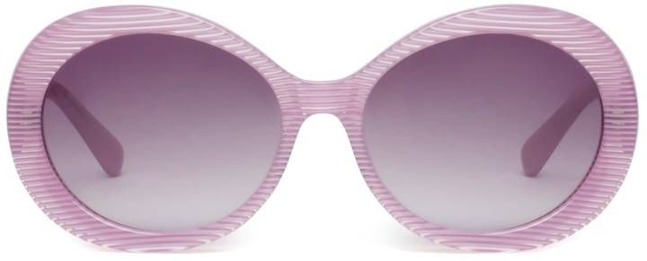 Heidi London - Pink Stripe Oval Sunglasses