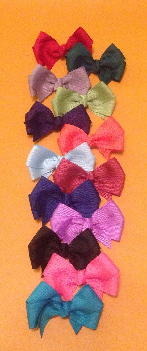 Hair Bow Set, Small Hair Bows, Infant Hair Bows, Toddler Hair Bows, Girls Hair Bows, Solid Hair Bows