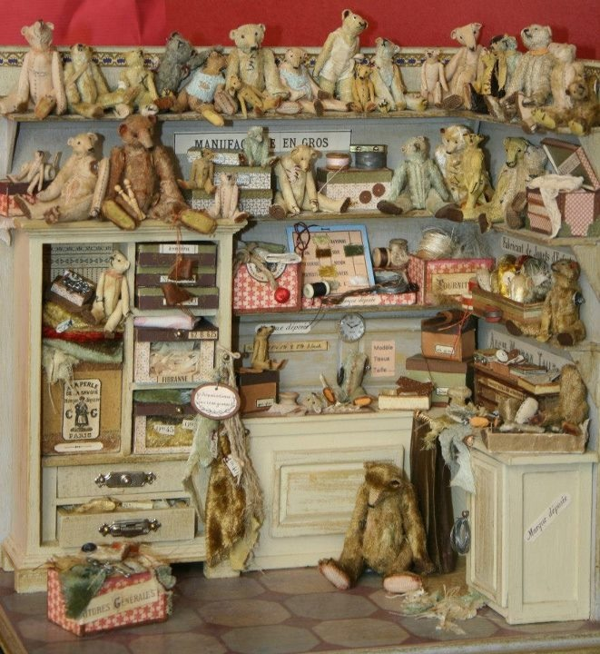 A shop of my childhood dreams. where all the worlds battered teddy bears could go to be mended!!!