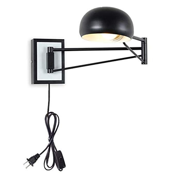 Wall Sconce Plug In Black Swing Arm Wall Lamps Light Bedroom With