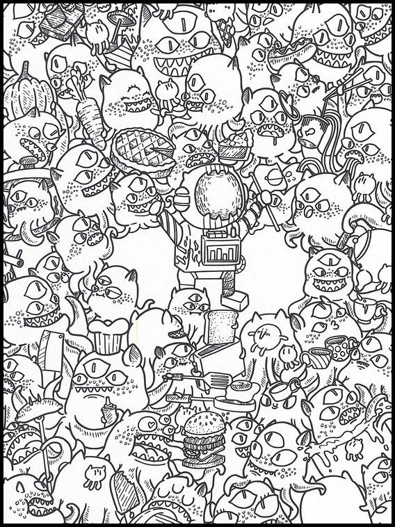Doodles Dans L Espace 26 Coloriage Dessins 224 Imprimer Pour