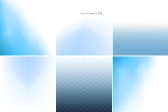 Blue abstract backgrounds. by ExpressShop on @creativemarket