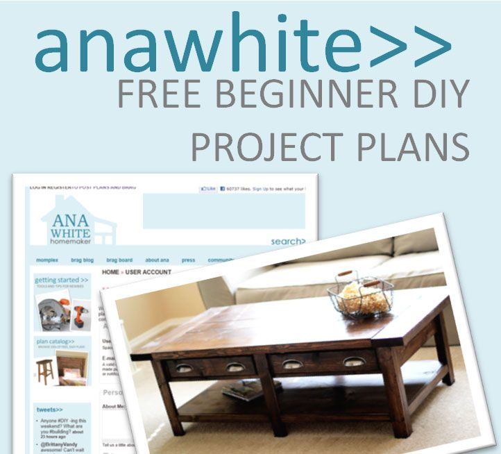 Ana White DIY Furniture Blog: Coffee Tables, Idea, The White, Diy Furniture Blog, Storage Beds, Farmhouse Tables, Furniture Plans, White Diy, Loft Beds