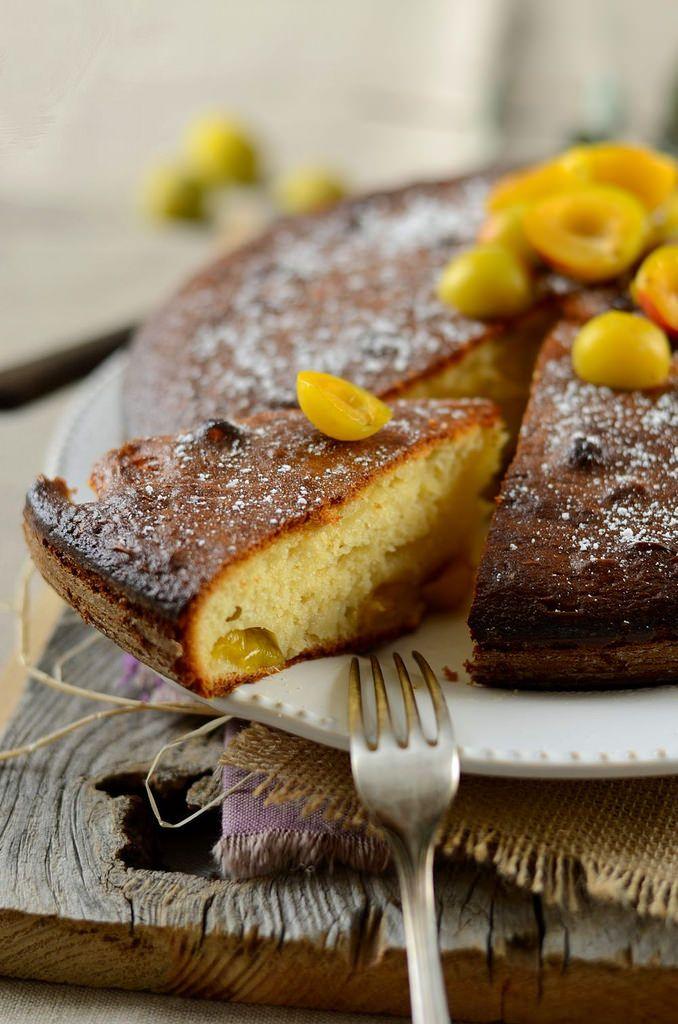 Gâteau au yaourt aux prunes mirabelles - Tangerine Zest