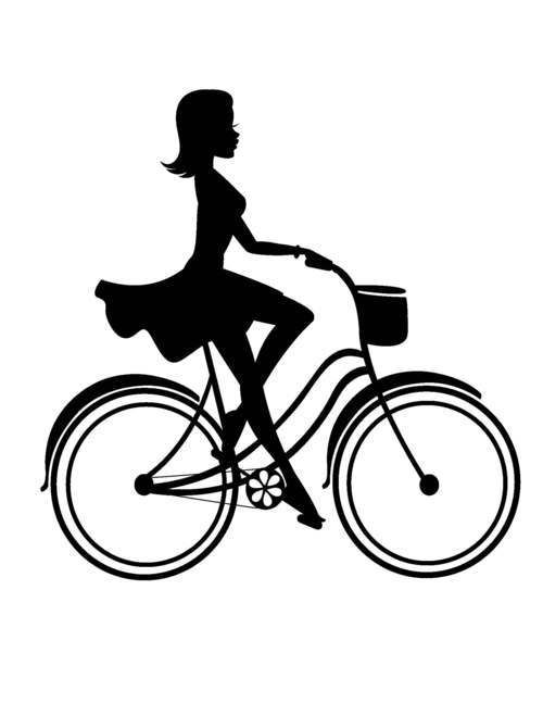 Girl on Bike …