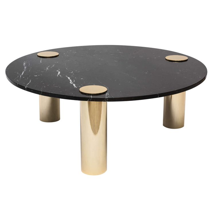 1970s Pace-Style Brass and Black Marble Coffee Table | From a unique collection of antique and modern coffee and cocktail tables at https://www.1stdibs.com/furniture/tables/coffee-tables-cocktail-tables/