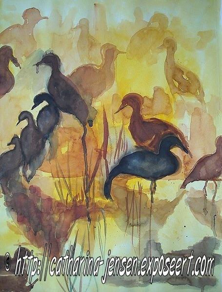 Catharina Jensen werd in het begin van de jaren negentig lid van een experimentele groep schilders in India. In de de jaren negentig heeft zij een opleiding gevolgd aan 'The Annapolis School for Creative Arts' in Maryland (Verenigde Staten). Zie ook