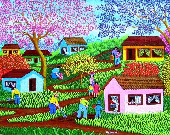 ALAN ARTISTA NAIF BRASILEIRO - Painting,  60x40 cm ©2008 por Arte Naif -  Pintura