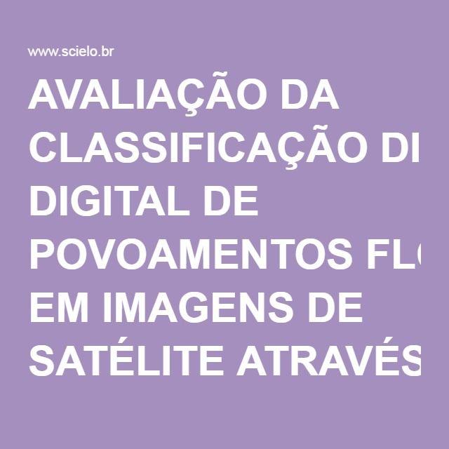 AVALIAÇÃO DA CLASSIFICAÇÃO DIGITAL DE POVOAMENTOS FLORESTAIS EM IMAGENS DE SATÉLITE ATRAVÉS DE ÍNDICES DE ACURÁCIA