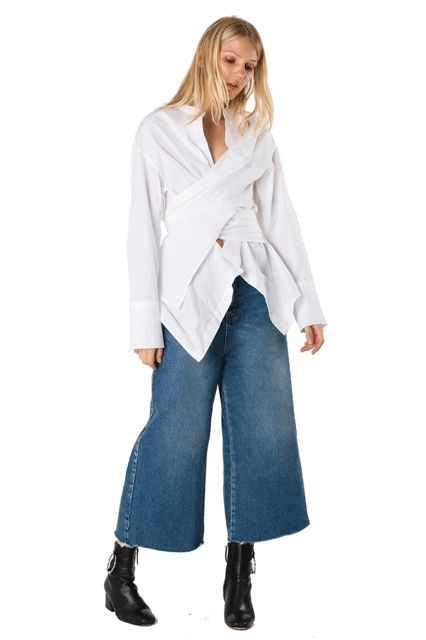 15 Different Ways To Wear The Deconstructed Shirt Trend #refinery29  http://www.refinery29.com/deconstructed-shirt-trend#slide-1  StyleMafia Viola Top, $125, available at StyleMafia....