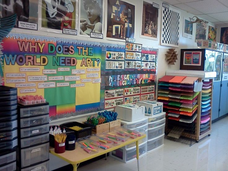 Look at this art room! {sorry the link is broken, please leave it and I will fix~~ d}