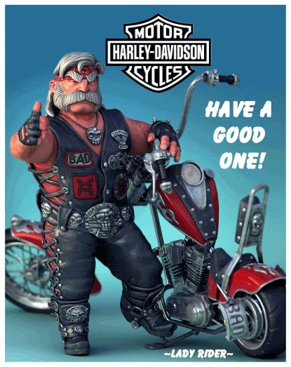 harley davidson have a nice monday gifs | Lady Rider Creation gif by harleyrider1340 | Photobucket