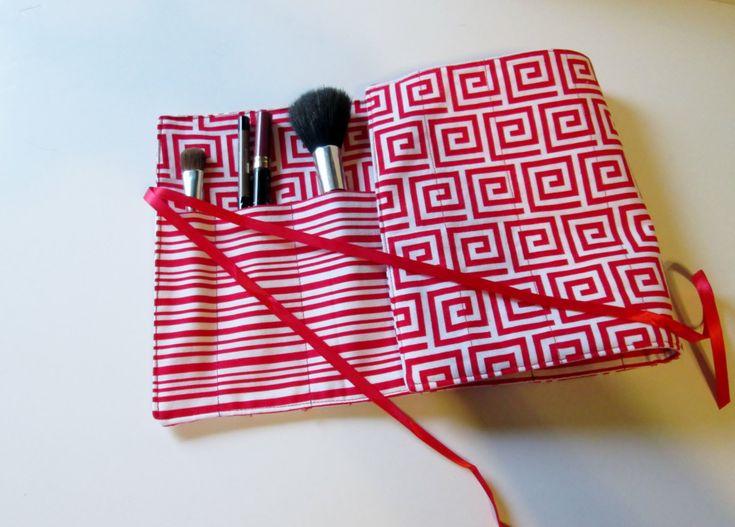 Makeup Brush Roll Organize, Teacher Gift, Artist Brush Roll, Craft Storage