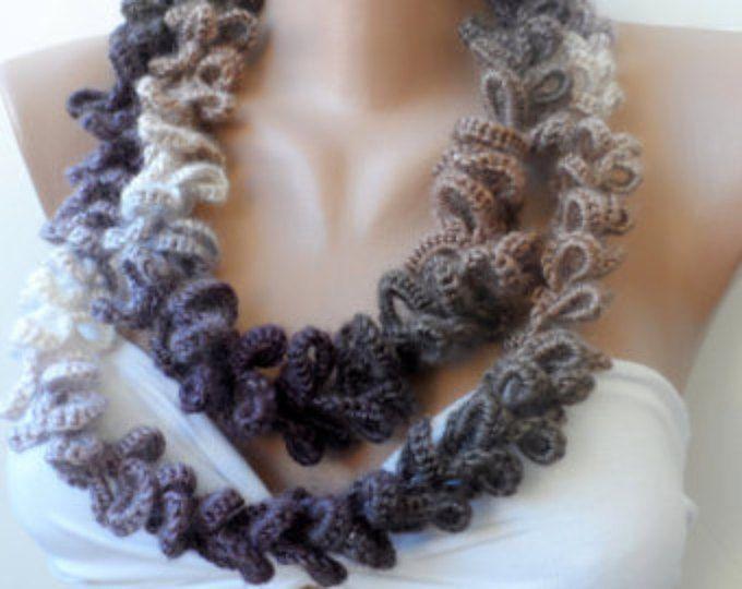 Handgemaakte oneindigheid sjaal, sjaal, gehaakte lus sjaal, zacht - cirkel sjaal Gehaakte sjaal, vrouwen sjaals, elegancescarf, mode