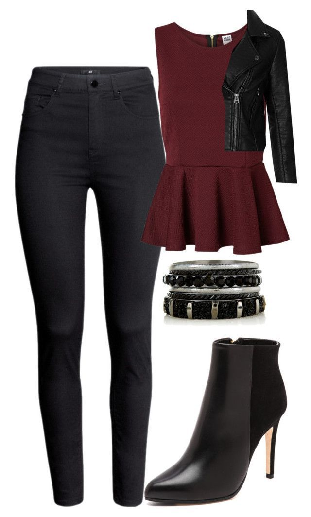 """""""Katherine Pierce Inspired Outfit"""" by mytvdstyle ❤ liked on Polyvore featuring H&M, Vero Moda, Club Monaco, Topshop, women's clothing, women's fashion, women, female, woman and misses"""