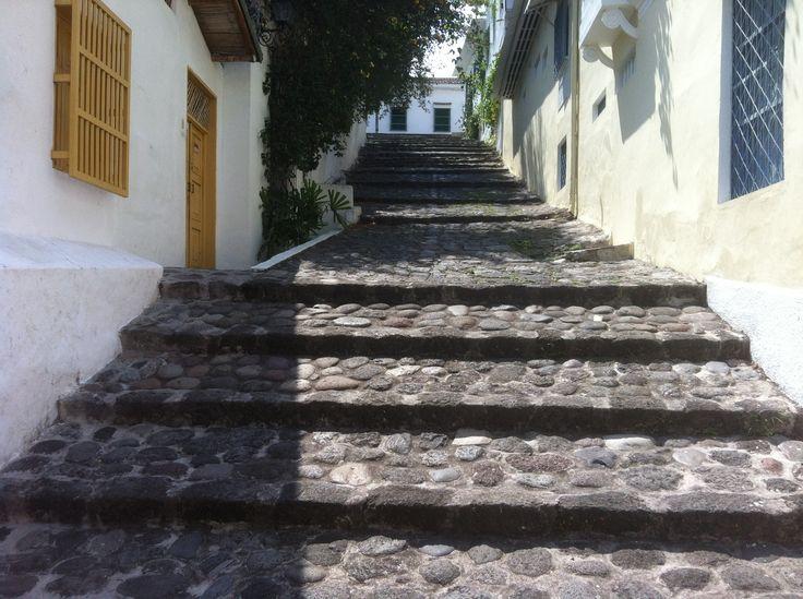 Calle de escaleras