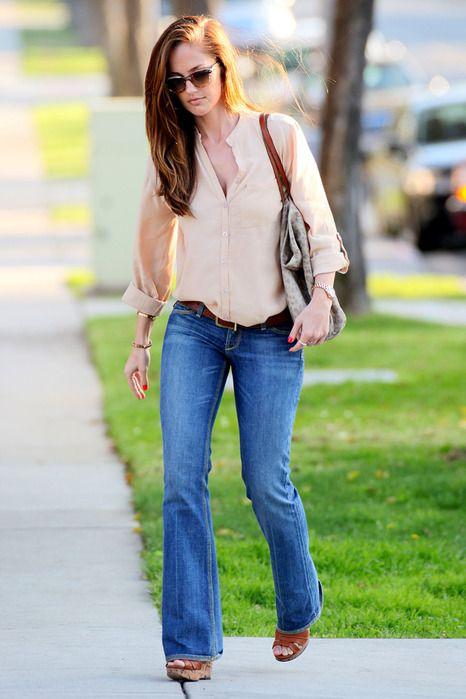 casual bootcut jeans look pantalones 39 seventies