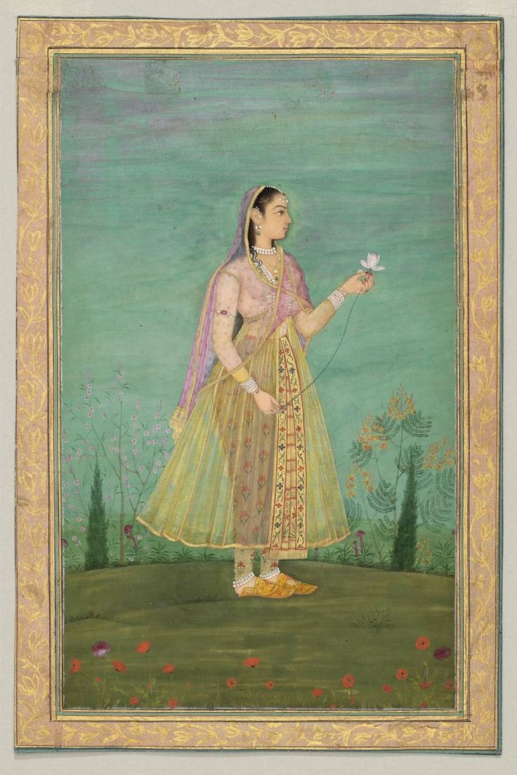 Woman with a Flower Indian, Mughal, second half of 17th century
