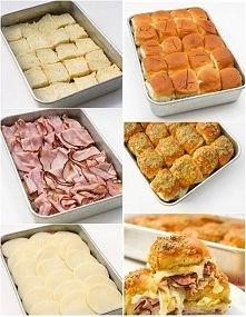 Zobacz zdjęcie Pyszna, imprezowa przekąska na gorąco! Kromki chleba posmarować masłem z czos...