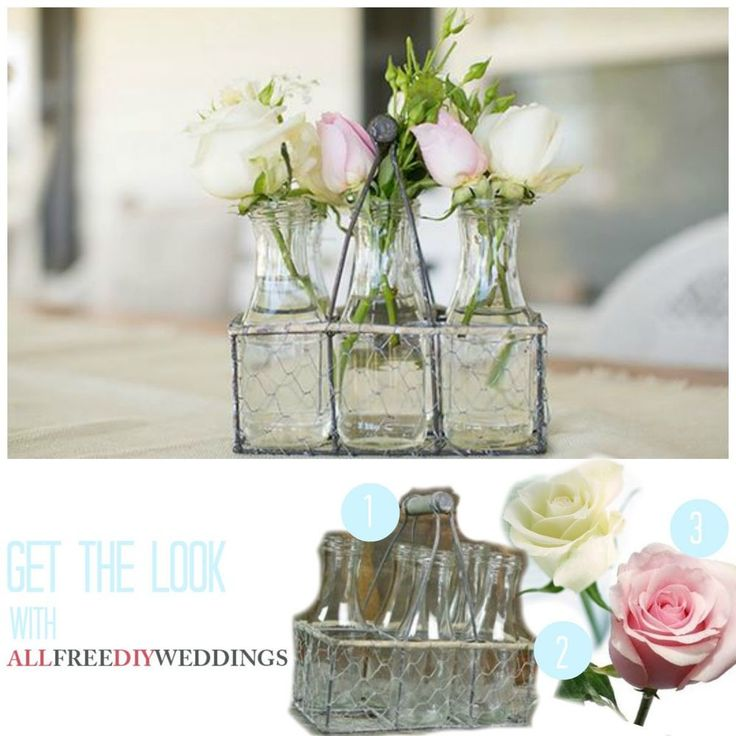 214 best diy wedding centerpieces images on pinterest diy wedding darling milk carrier rustic wedding centerpieces junglespirit Images