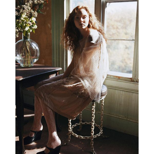 Morning Beauty Lily Cole by Carter Smith ❤ liked on Polyvore featuring models, people, lily cole, backgrounds and editorials