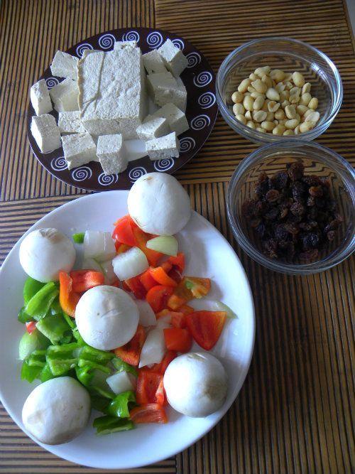 Tofu salteado con verduras